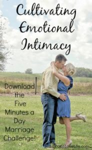 Cultivating Emotional Intimacy